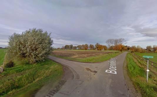 Het kruispunt Boeninksteeg - Heijinkweg in het buitengebied van Zelhem, waar de vrouw in november werd verkracht.