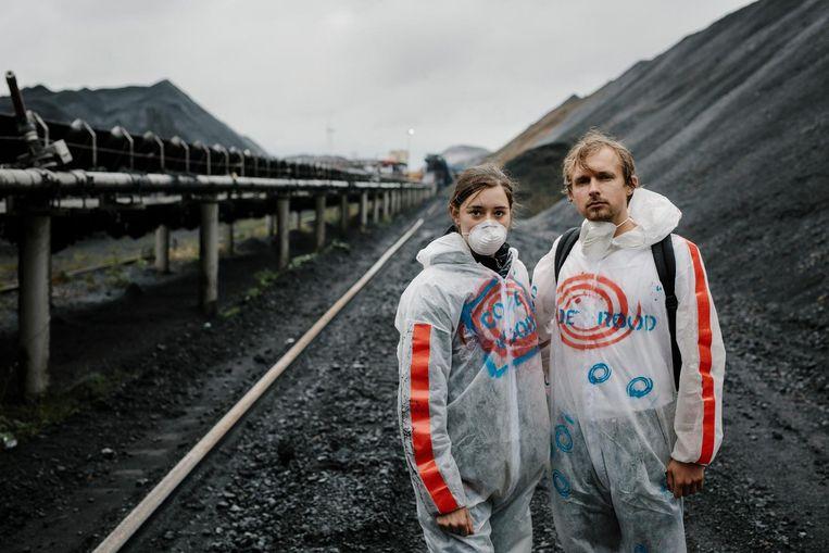 Activist Kasper en Eveline. Beeld Marc Driessen
