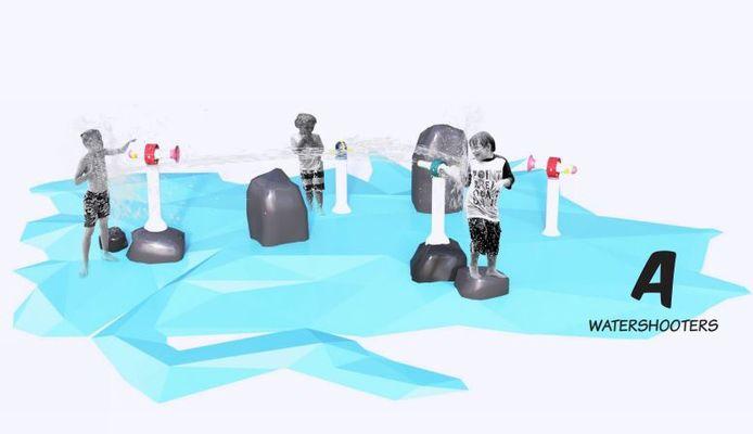 Een van de mogelijkheden; watershooters om elkaar nat te spuiten.