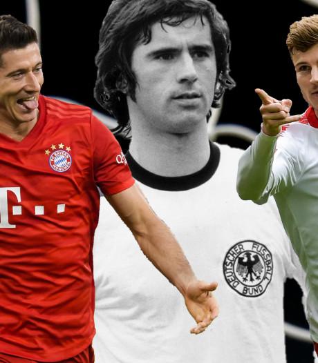Erfgenamen van Gerd Müller: Lewandowski de beste, Werner komt eraan