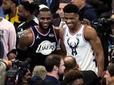 LeBron en Giannis voeren All Stars weer aan