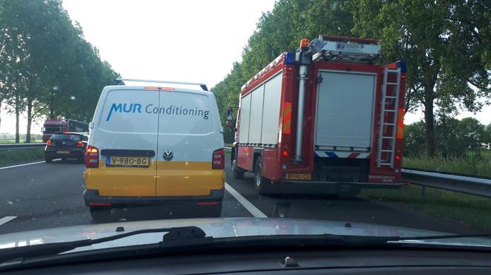Vertraging op de A12 in de richting van Doetinchem.