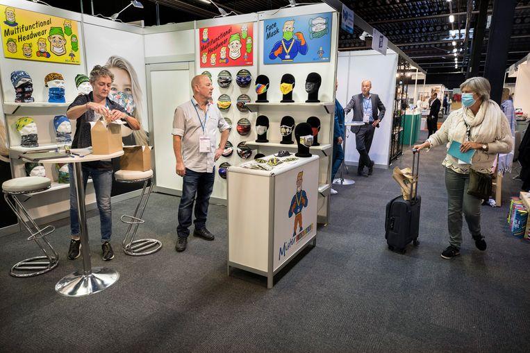 De eerste Nederlandse vakbeurs in coronatijd wordt gehouden in de Expo van Houten.  Beeld Werry Crone