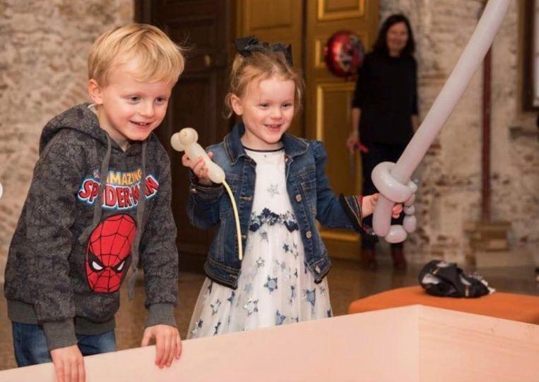 Prins Jacques en prinses Gabriella van Monaco vierden hun vierde verjaardag.