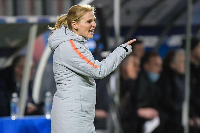 Sarina Wiegman speelde vaak samen met Liesbeth Migchelsen in Oranje.