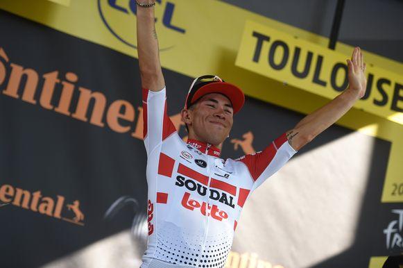 Lotto Soudal won gisteren nog de rit met aankomst in Toulouse met Caleb Ewan.