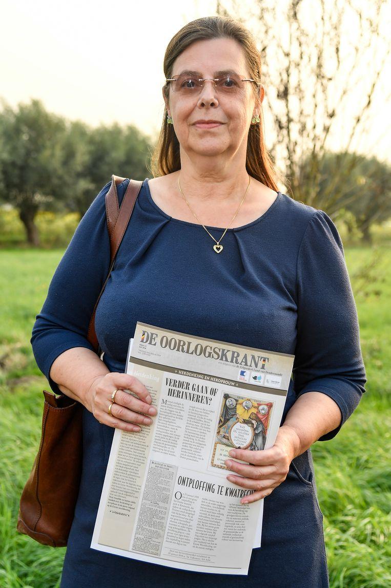 Sonia De Cock legde een getuigenis over haar grootvader, die vocht in WOI, af.
