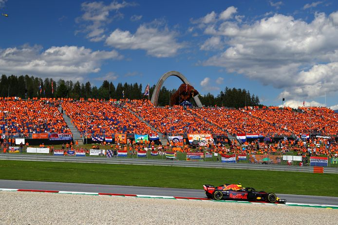 Max Verstappen kan in Oostenrijk rekenen op de steun van talloze fans.