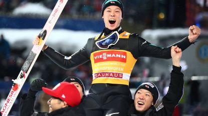 Kobayashi schrijft geschiedenis met derde 'grand slam' ooit in het schansspringen: Japanner wint alle wedstrijden van het Vierschansentoernooi