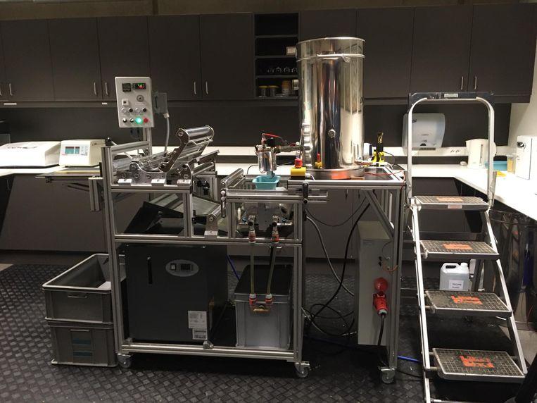De automatische waswafelmachine is enkel bedoeld voor lokale imkers.