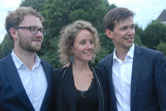 Trio Cortado: v.l.n.r. Jasper Grijplink(basklarinet), Hannah de Witte(fluit) en Arthur Klaassens(althobo).