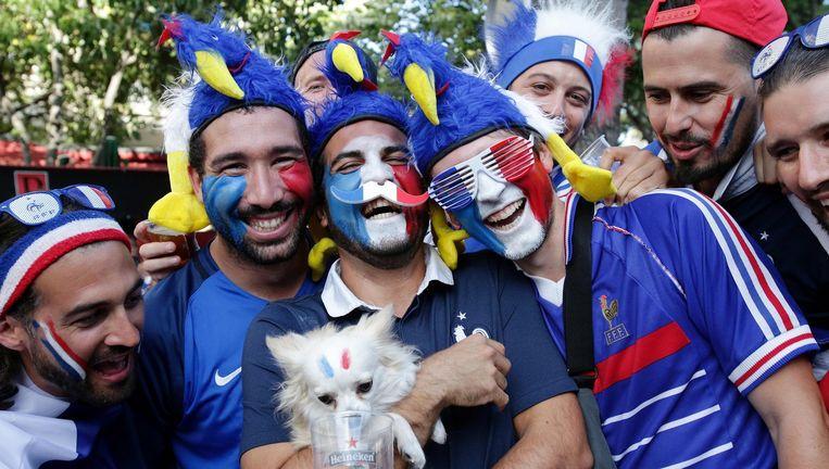 Supporters van Frankrijk. Beeld afp