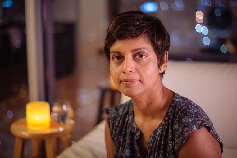 Rafida Bonya Ahmed: 'De overheid in Bangladesh is fascistisch. Voor alles wat ze niet aanstaat kun je in de gevangenis belanden.' Beeld Eva Anandi