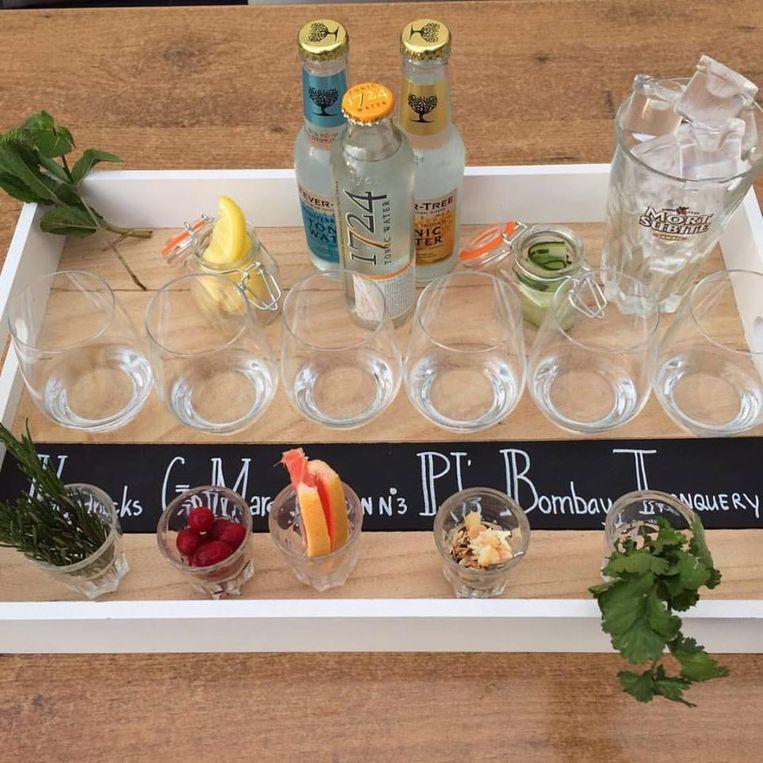 Gin tonicplank van Tapperij de Zwaan. Beeld De Zwaan