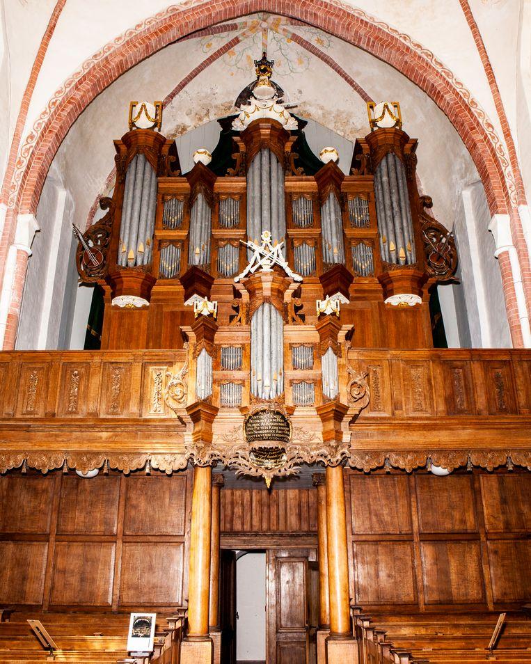 Het Schnitger-orgel in Noordbroek (Groningen).  Beeld Hilde Harshagen