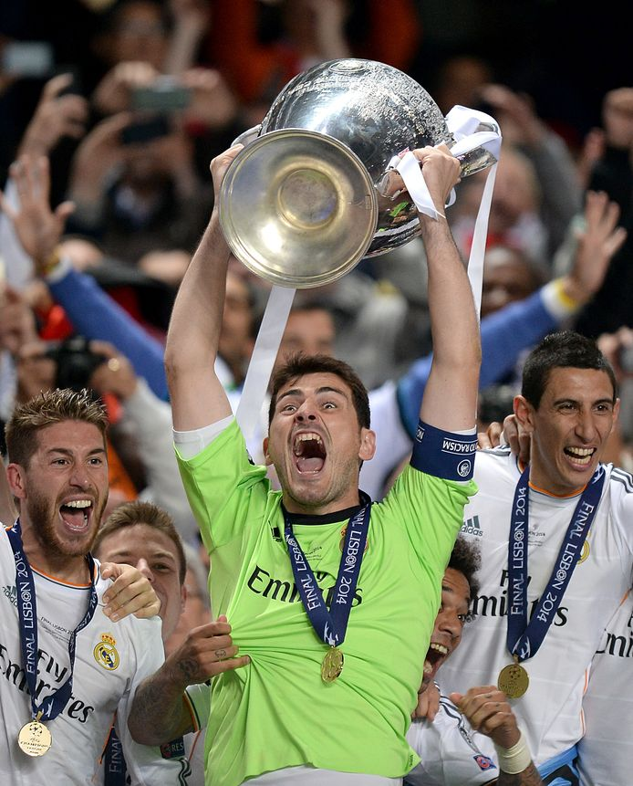 2014: Iker Casillas met de Champions League met Real Madrid.