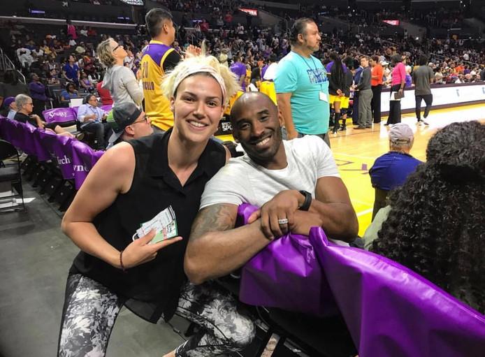 Chatilla van Grinsven ontmoette Kobe Bryant bij een wedstrijd van LA Sparks.