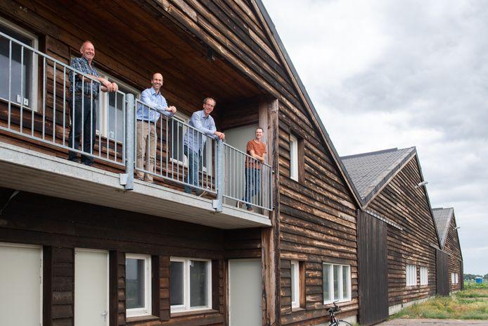 Ad Rasenberg, Richard van der Maden, Camiel Wieme en Jan Rasenberg (vlnr) zijn de initiatiefnemers van het energieproject in Drimmelen.