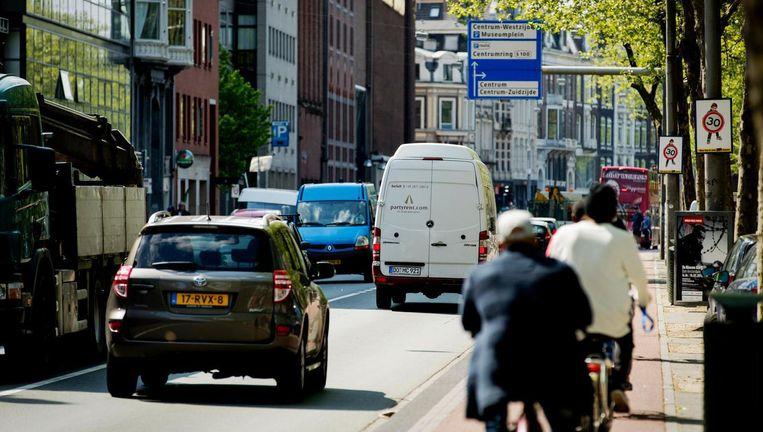 De actiegroep wil naast schone lucht meer ruimte voor de fiets Beeld anp
