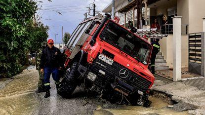 Ook de brandweer ontsnapt niet aan storm Zorba