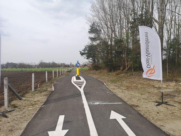 De nieuwe fietssnelweg.