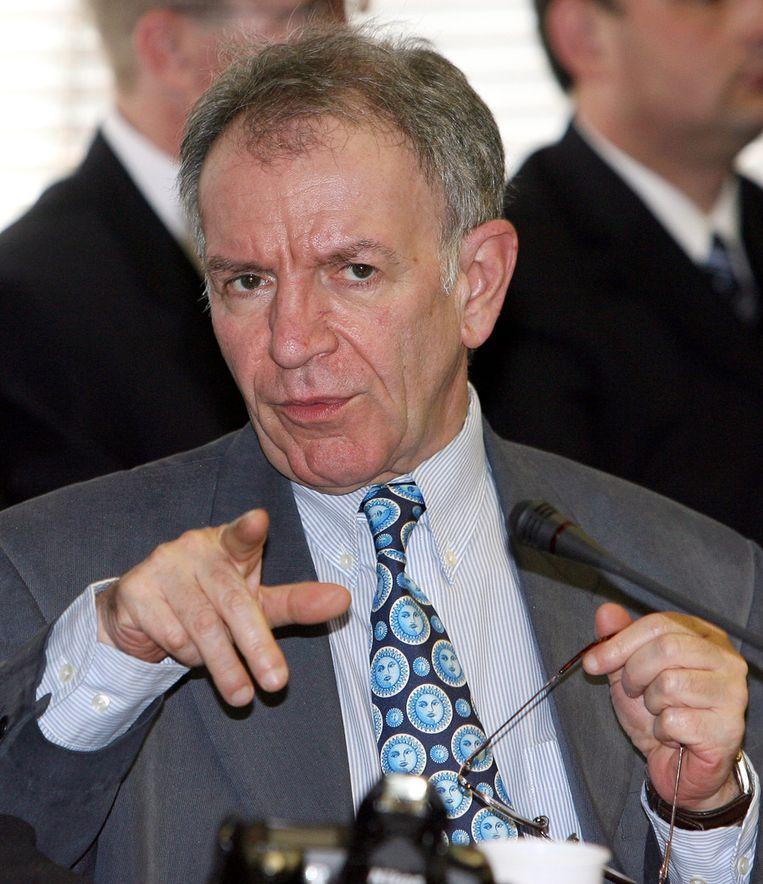 Daniel Féret, voorman van het Waalse Front National in 2006. © AFP Beeld null