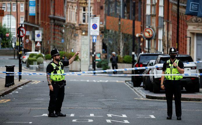 De politie heeft straten afgezet.