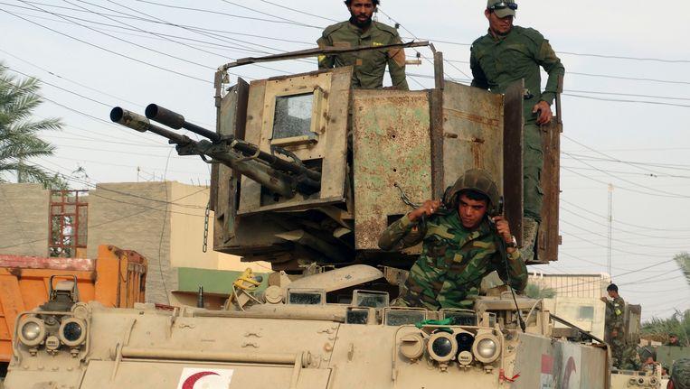Sjiitische milities vorig jaar in Irak. Beeld ap