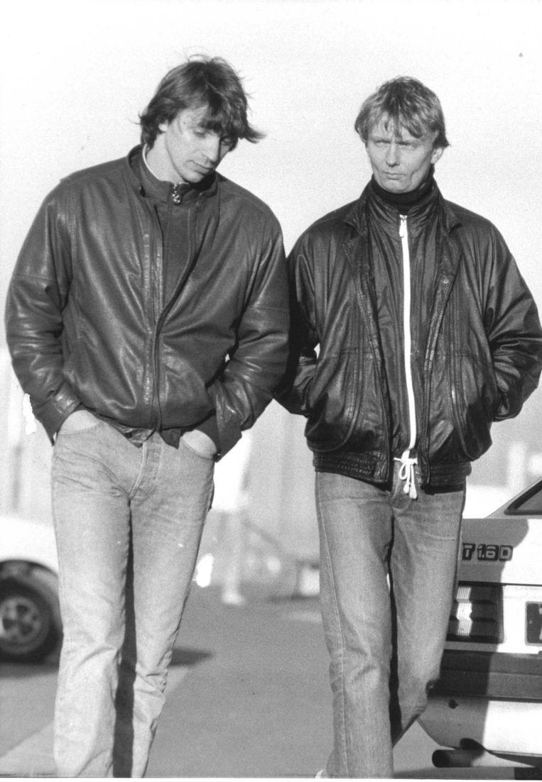 Willem Holleeder en Cor van Hout in 1986 Beeld anp