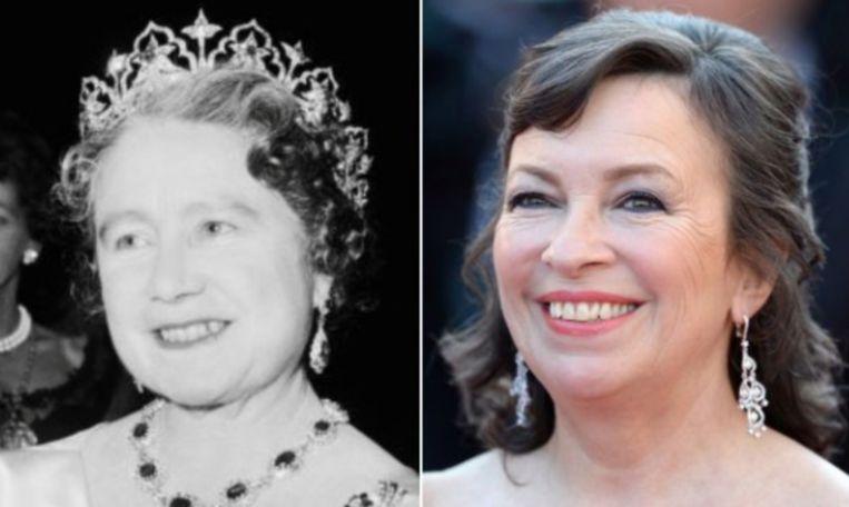 De Queen Mother wordt gespeeld door Marion Bailey.