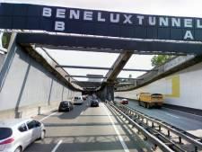 Verkeer rond Rotterdam vast door dichte tunnel