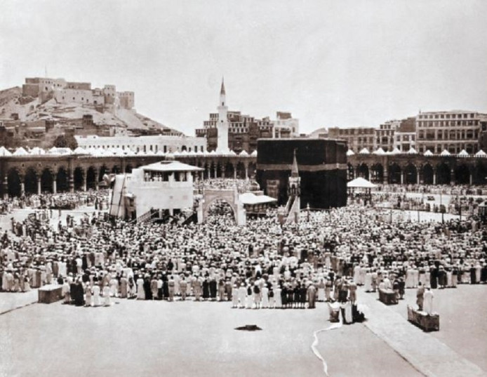 De Hadj, de jaarlijkse bedevaartstocht in Mekka voor moslims uit de hele wereld.