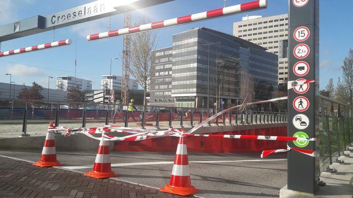 Parkeergarage Croeselaan in Utrecht is tijdelijk dicht vanwege een technisch mankement.
