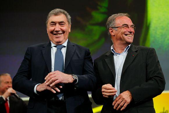 Eddy Merckx en Bernard Hinault.