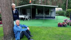 """CAMPING KEMPEN: André en May komen al sinds de start in 1981 naar de Lilse Bergen: """"Voor mij is het hier altijd goed weer, zelfs al regent het"""""""