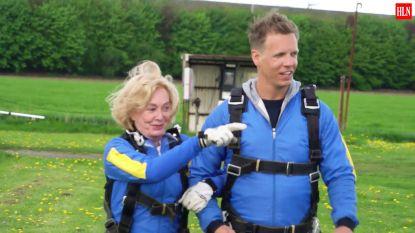 """""""Dat op mijn oude dag, waar ben ik mee bezig"""": Leah Thys maakt zich klaar voor parachutesprong"""