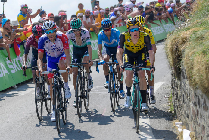 De favorieten in etappe 14 naar de Tourmalet.