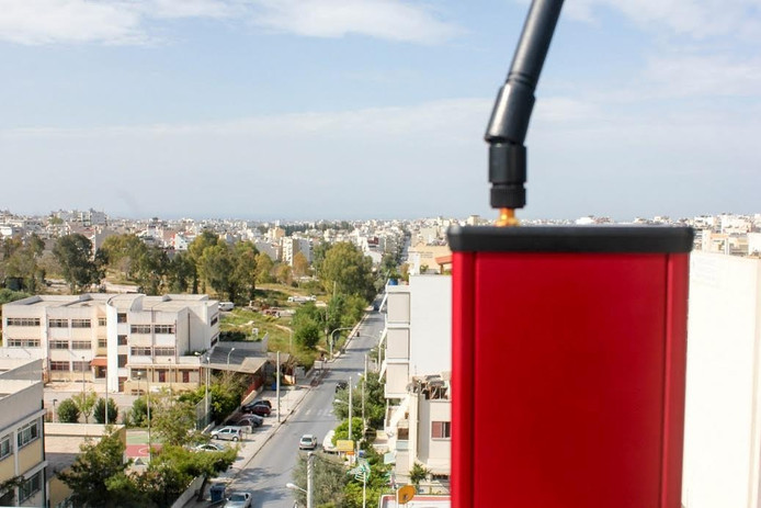 Een kleine antenne die zorgt dat het bereik wordt vergroot.