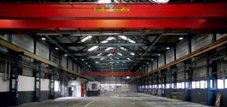 Voormalige wieldraaierij NS-werkplaats Tilburg. ( FOTO: STEPHAN HAANS) Beeld