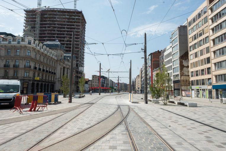Hier rijdt vanaf 8 december een tram voorbij. Dat wordt gevierd met een groot openingsfeest.