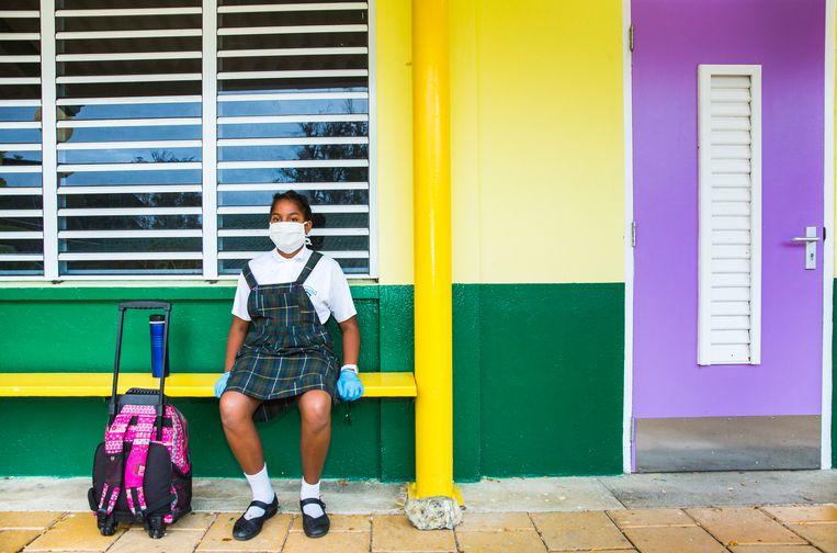 Scholen sluiten in Curaçao door het coronavirus.  Beeld Sinaya Wolfert