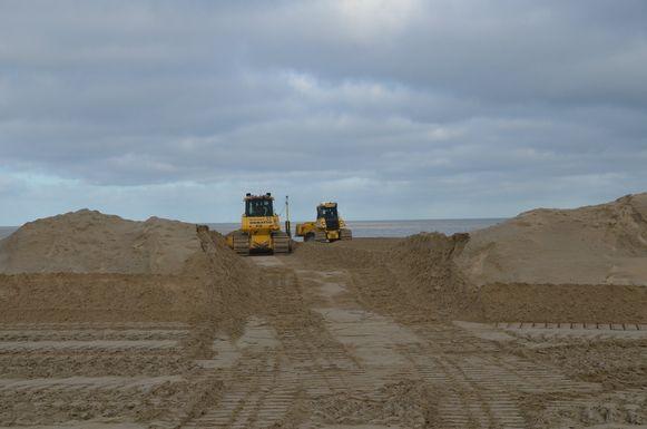 Werken strand Knokke
