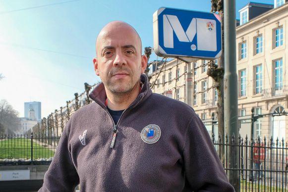 Yousef Benayad Daoudi werkt nog steeds als veiligheidsagent bij MIVB.