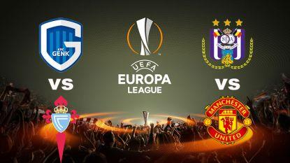 Anderlecht treft het grote Manchester United, Racing Genk trekt naar Spanje