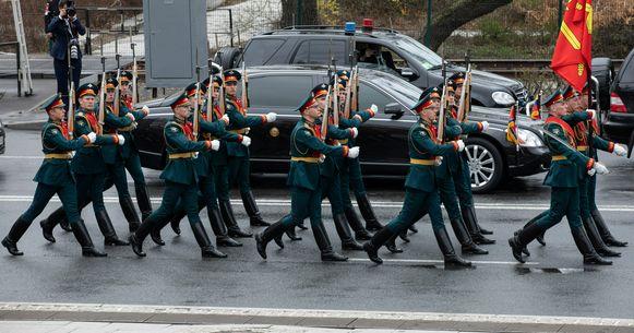 De limousine van Kim Jong-un bij zijn bezoek aan Vladivostok.