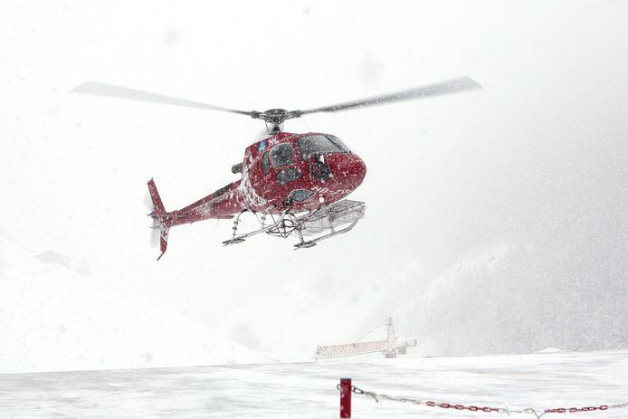 Een helikopter van de reddingsdienst van Zermatt (archieffoto).