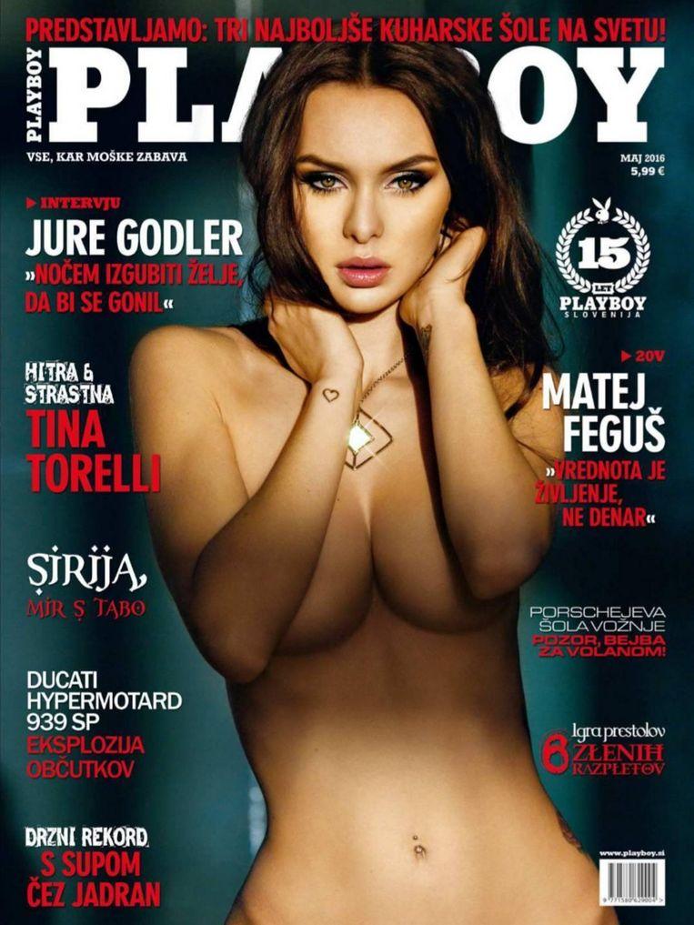 De cover van de Sloveense Playboy met Daisy.