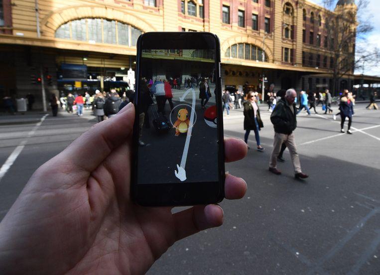 Een Pokémon Go-speler in de Australische stad Melbourne.