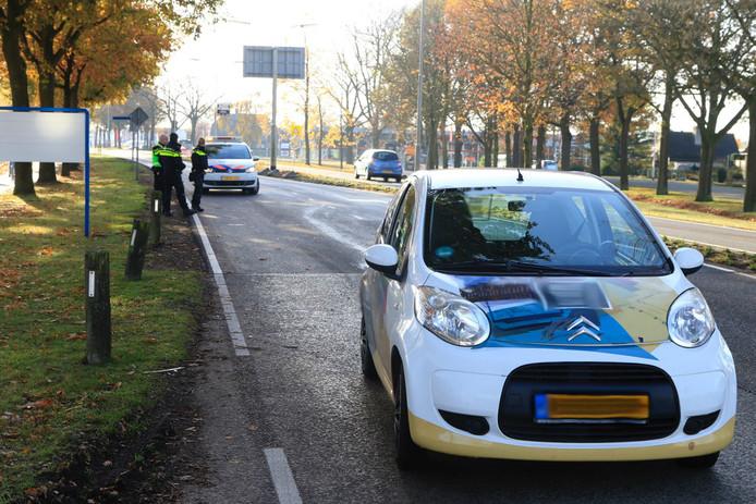 Ongeluk op Liesselseweg in Deurne.