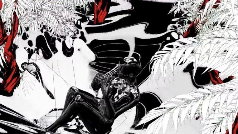 Fragment uit Ash Koosha's video voor het nummer 'I Feel That'. Beeld